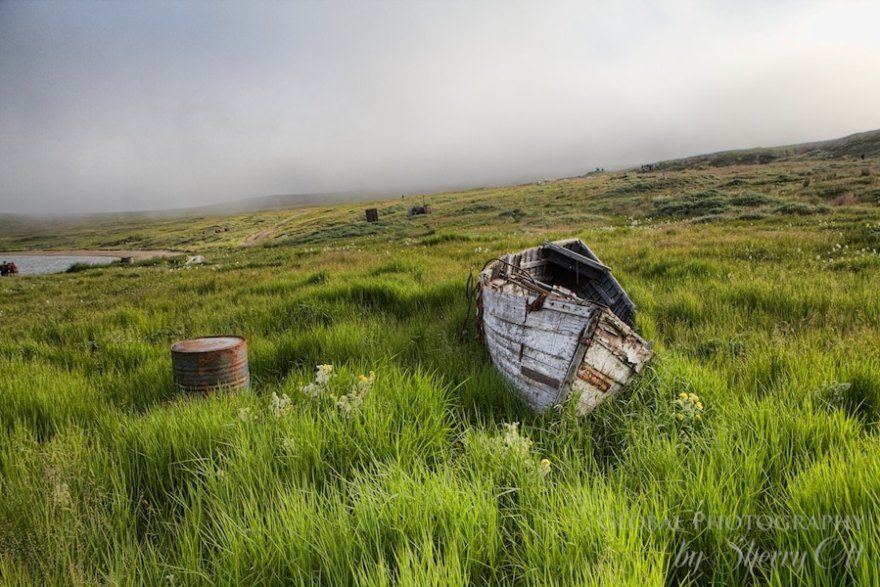 abandoned boat Russia