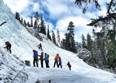Ice climbing at the Junkyards