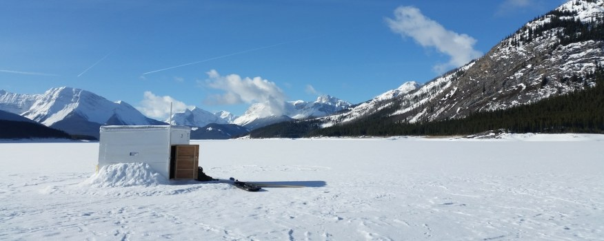 A perfect day for ice fishing!