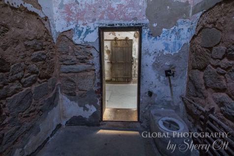 Inside prison cell