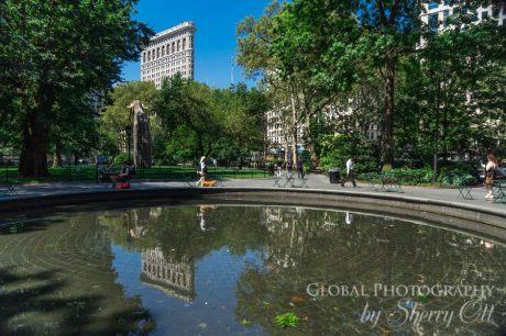 Madison Square Park reflection