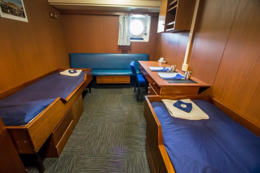 cabin on the spirit of enderby, the cruise I took to Antarctica through the Southern Sea