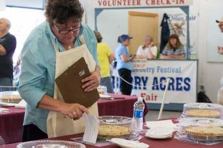 Maine blueberry pie contest judge