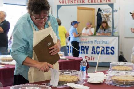 Maine blueberry pie contest judge