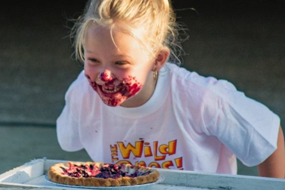 Maine bluberry pie eating contest