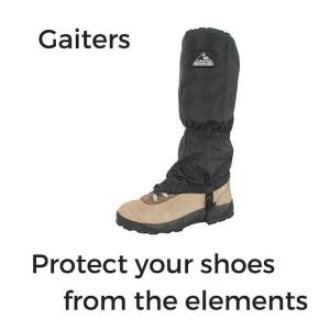 camino de santiago hiking gear gaiters