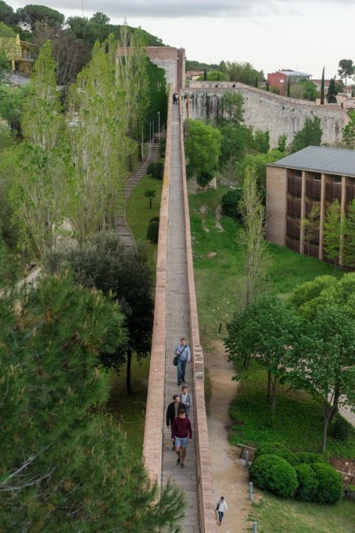 Medieval walled city girona