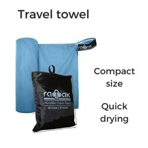hiking travel towel