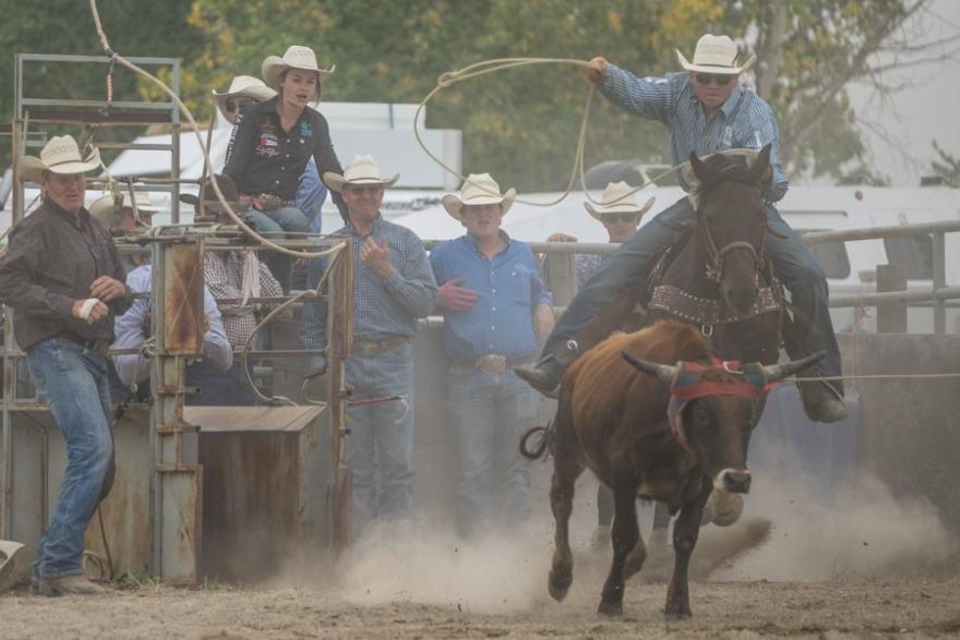 Canadian rodeo in Alberta