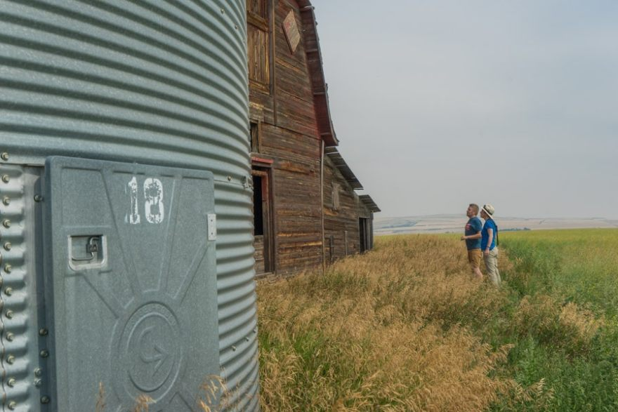 Canadian Badlands barns