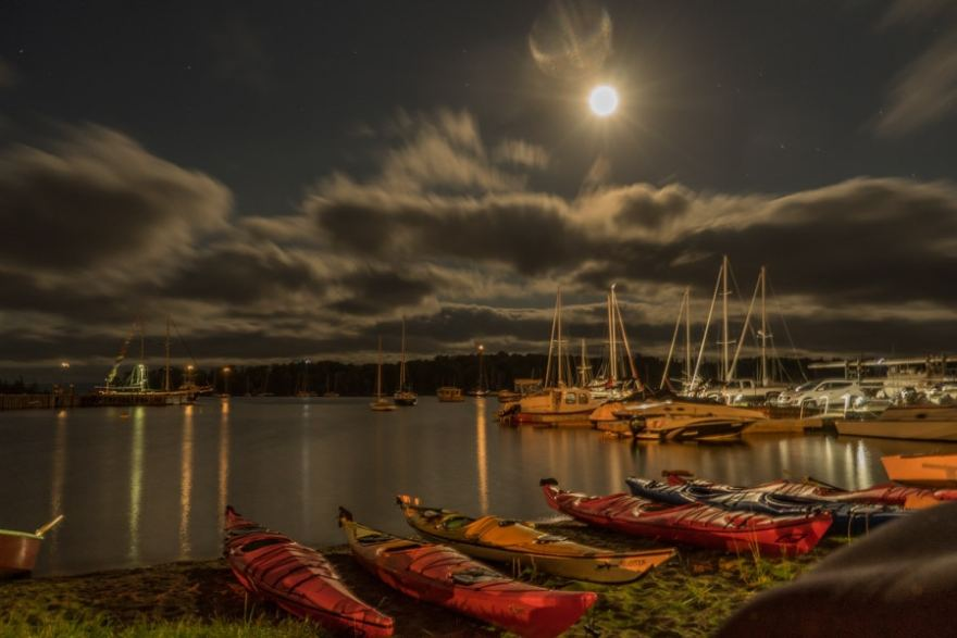 Baddeck full moon kayak