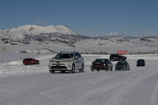 winter driving track