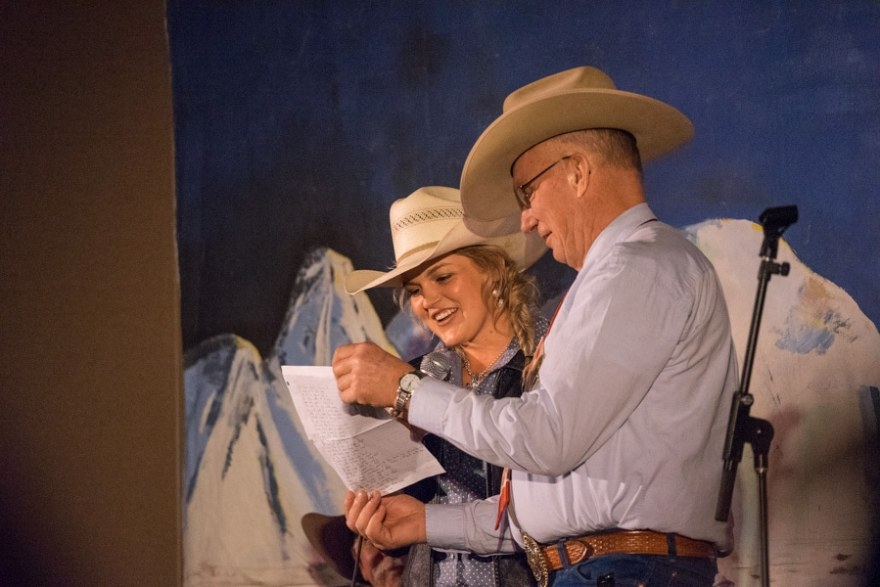 lending a helping hand at cowboy poetry gathering