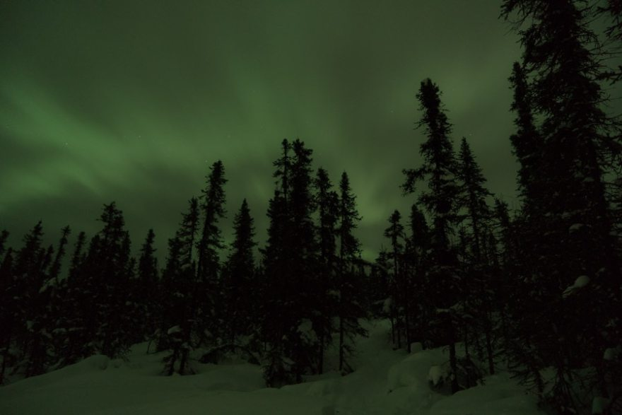 alaska northern lights with the naked eye