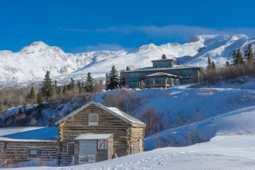 Fairbanks Alaska winter Black Rapids lodge