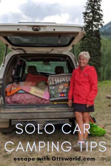 Solo Car Camping Tips