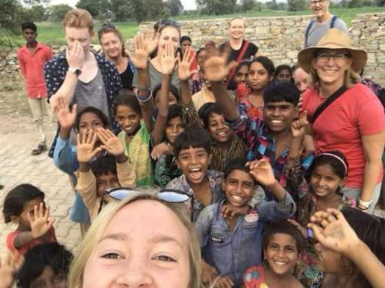 india with teenagers