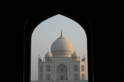 taj mahal framing
