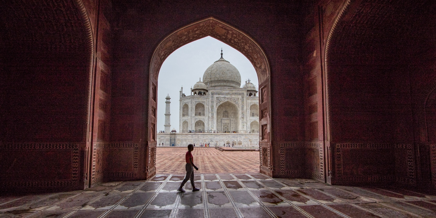 Taj Mahal photography framing