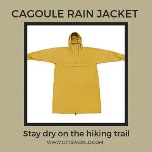 hiking rain jacket cagoule