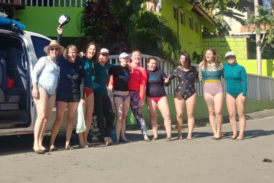 Womens Surf and yoga retreat Santa Catalina Panama
