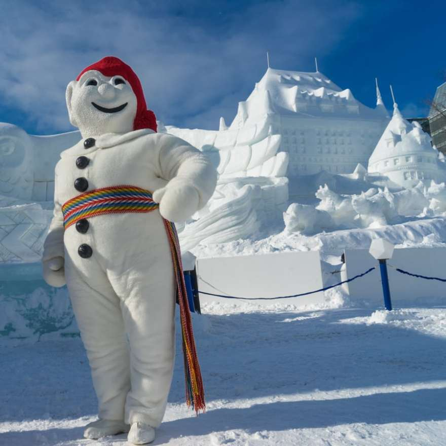 Quebec winter activities bonhomme
