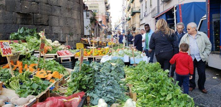 Fresh vegetables at the Porta Nolana Market in Naples Italy