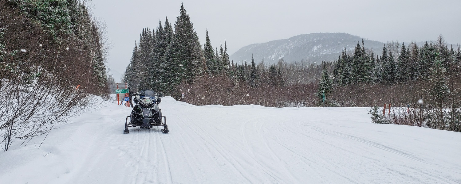 snowmobiing in quebec
