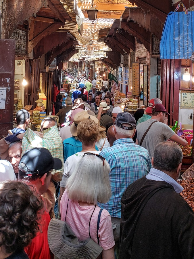 Morocco busy souk