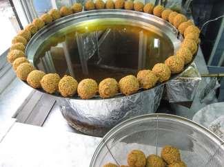 falafell in a lebanese market