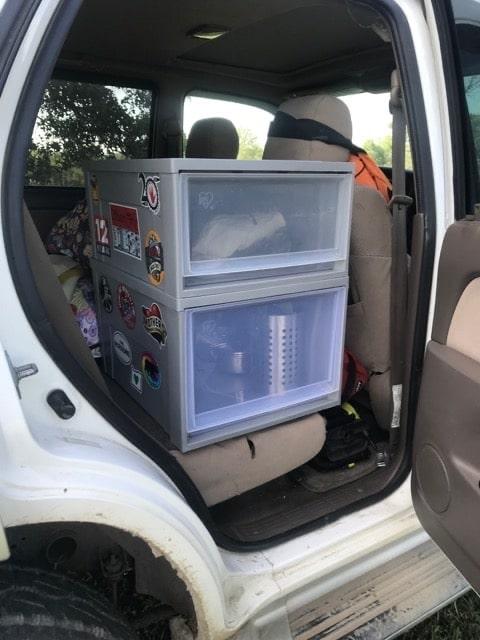 SUV camping organization