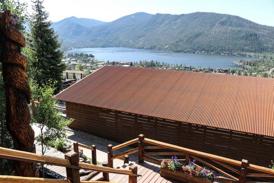 Grand Lake lodge overlooks Grand Lake