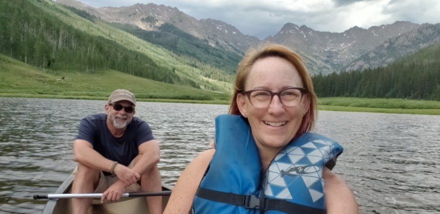 canoe selfie