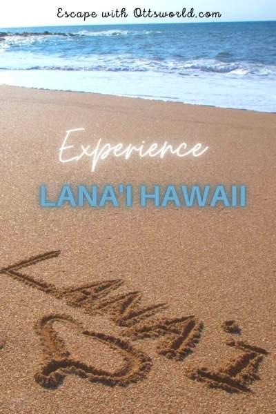 Sandy beach on Lana'i, Hawaii