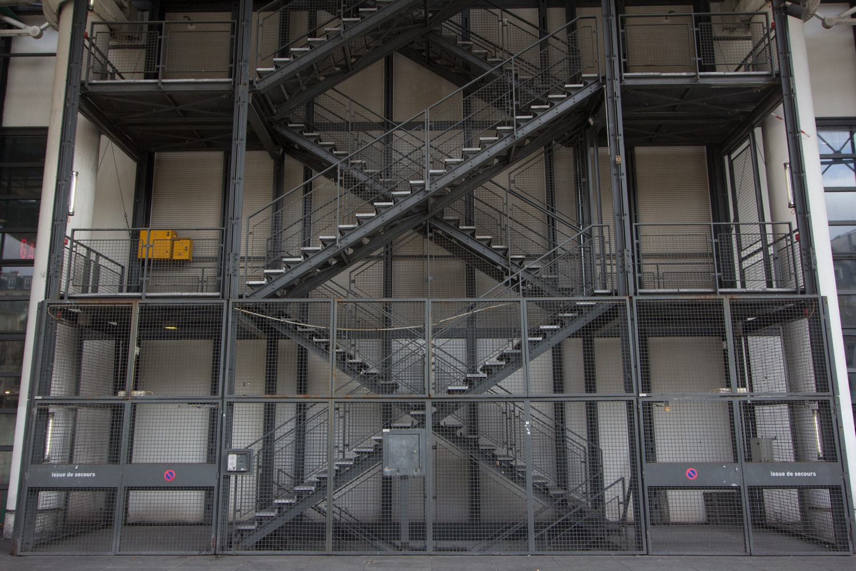 pompidou Centre stairway