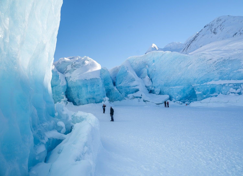 Spencer glacier winter