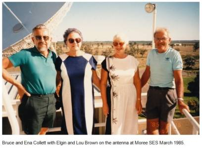 Bruce and Ena Collett with Elgin and Lou Brown 1985