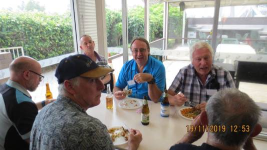 Perth AGM and Luncheon Nov 2019 Keith, Mark, Ted, Dave & Tony