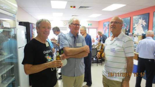 Perth AGM and Luncheon Nov 2019 Kevin, Paul & Jim