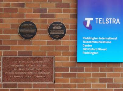 Compac Cable Plaque, Apollo 11 Plaque, Building Opening Commemoration Stone and Telstra ITC sign