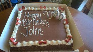 John Toland Birthday Cake