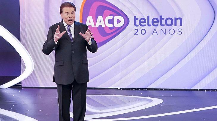 Silvio Santos no Teleton 2017 (Foto: Divulgação)