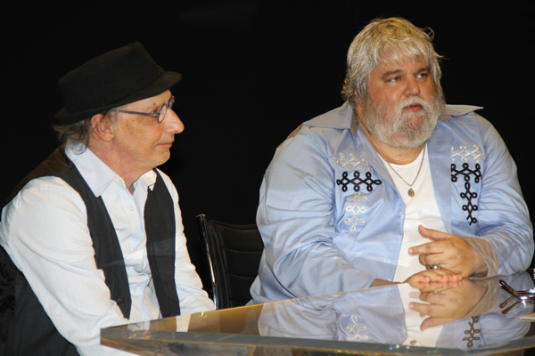 Arnaldo Saccomani e Miranda (Foto: Carol Soares/SBT)