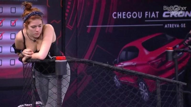 Ana Clara demonstrou irritação com a prova (Foto: TV Globo)