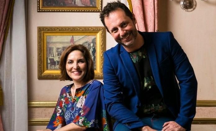 Thereza Falcão e Alessandro Marson, autores de Novo Mundo (Foto: TV Globo / Raquel Cunha))