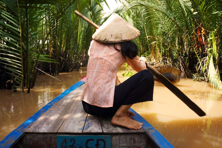 Balade en barque dans le Delta du Mekong
