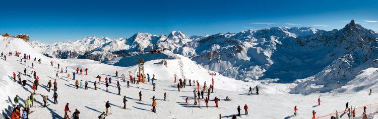 Les pistes de ski de Courchevel