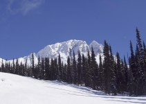 Montagnes et piste de ski