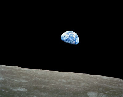 Earth from the moon, Apollo 8