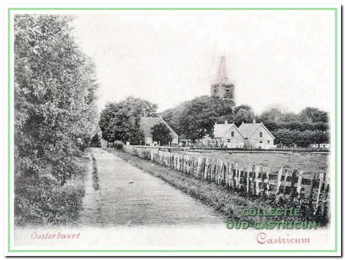 Zicht vanuit de Oosterbuurt op het einde van de Kerkbuurt.